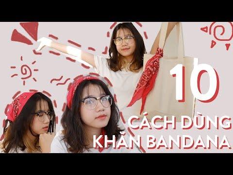 10 Cách Dùng Khăn Turban/Bandana | ft mặt bánh bao