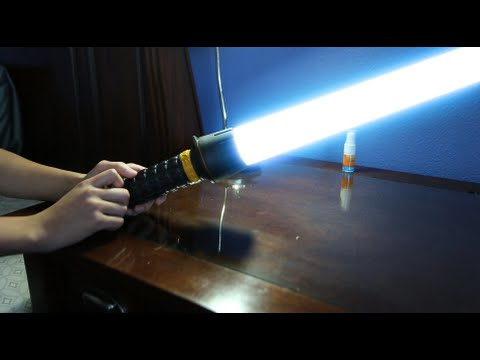 How To Make a Lightsaber Out of a Flashlight
