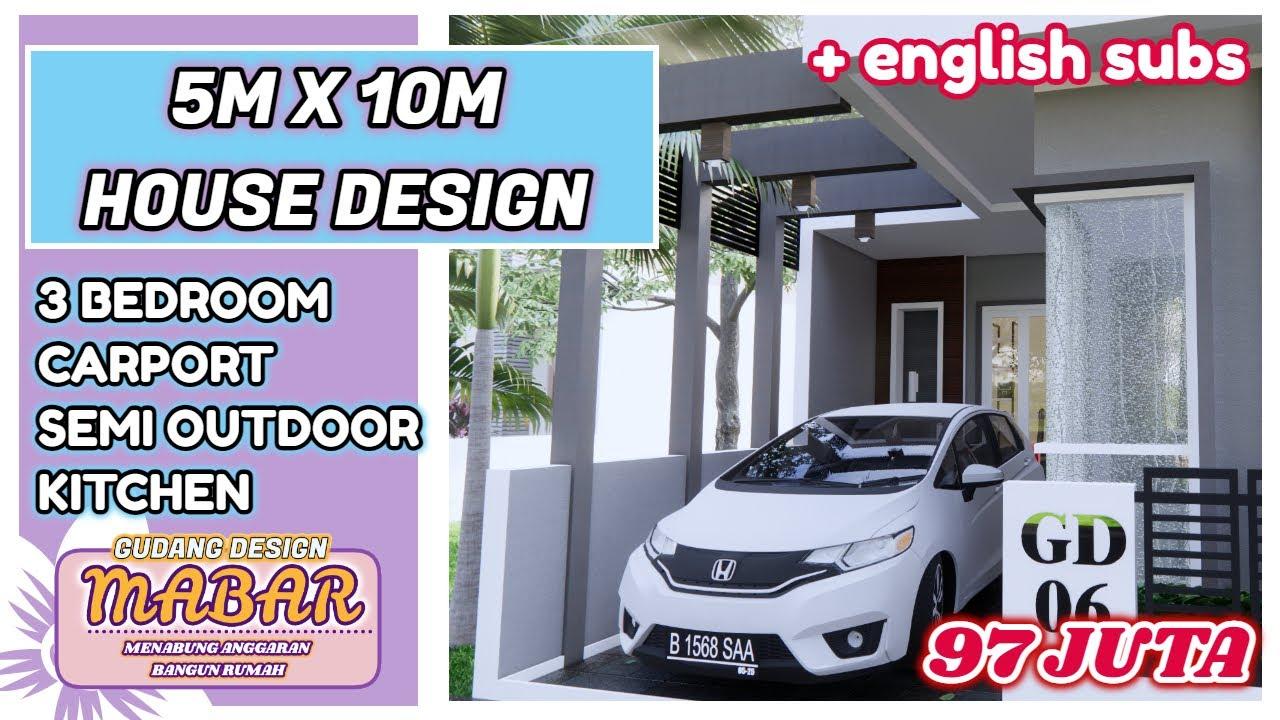 Bangun rumah minimalis 3 kamar + carport Gak sampai 100 juta lho - Semangaaat yo!! nabung2