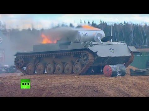 Reconstitution historique spectaculaire de la bataille de Berlin de 1945 à Moscou (Direct du 23.04)