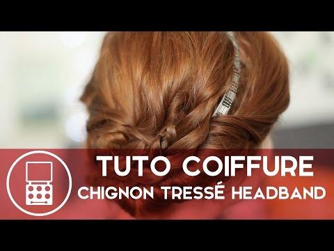 Tuto Coiffure — Chignon tressé avec un headband