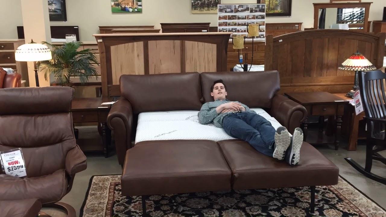 - Omnia Leather Sofa Dream Sleeper Bed Lift - YouTube