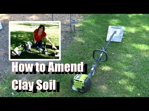 How to Amend Clay Soil - I Use the Ryobi and Gypsum (viewer request)