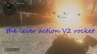 call of duty world war 2 (sniping v2 rocket) the lever action