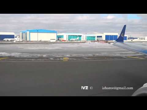 Airplane taking off from Astana International Airport