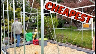 CHEAPEST Greenhouse! (Harbor Freight)