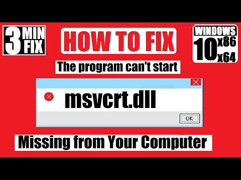[𝟚𝟘𝟚𝟙] How To Fix Msvcrt.dll Missing/Not Found Error Windows 10 32 Bit/64 Bit 🅽🅴🆆