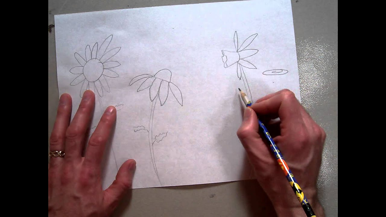 Flower Garden Drawing drawing a flower garden (part 1/3).mov - youtube
