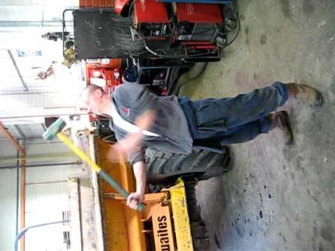 Vhs Failed sledge hammer challenge 14lb