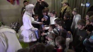 Новогодний праздник для детей добровольцев Донбасса в Москве