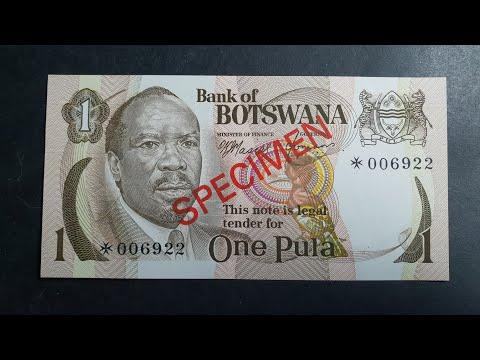 Botswana specimen banknote 1976