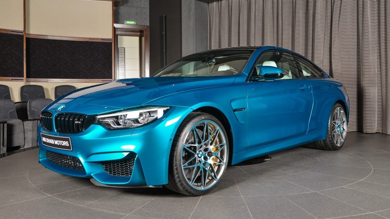 2017 Bmw M4 Competition Package Atlantis Blue Youtube