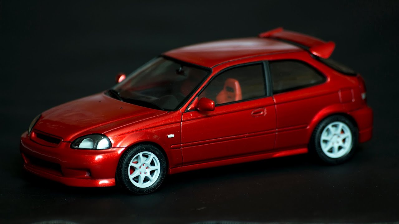 Honda civic ek9 type r 1 24 fujimi youtube for Honda civic ek9