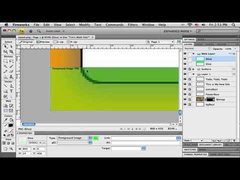 How to Make Web Layout in Adobe Fireworks CS4