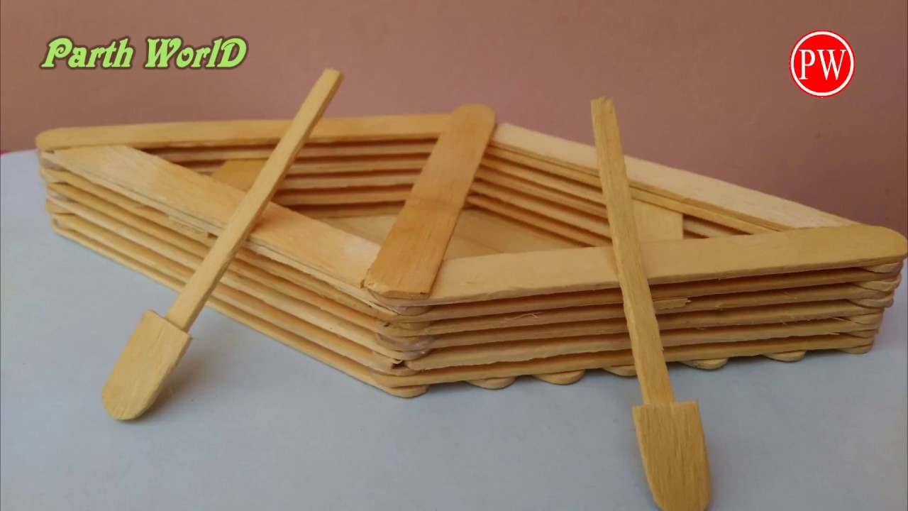 How To Make A Boat With Popsicle Sticks Handmade Diy Crafts