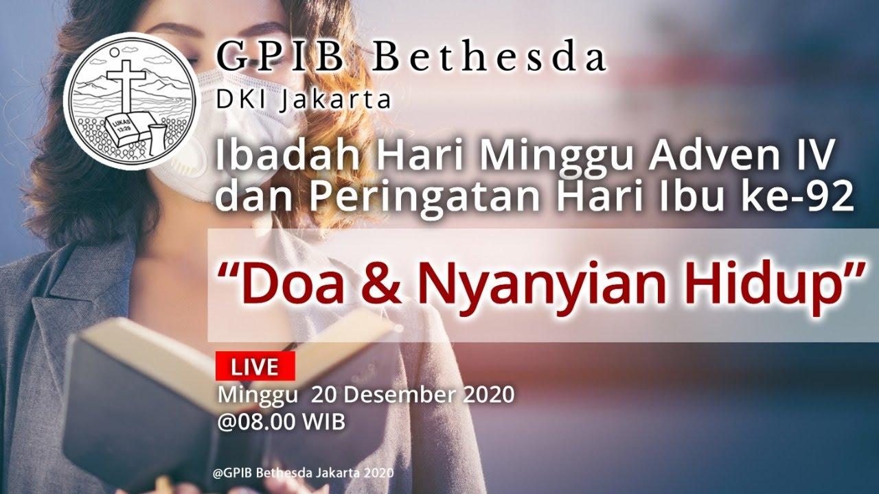 Ibadah Hari Minggu Adven IV dan Peringatan Hari Ibu ke-92 (20 Desember 2020)