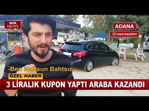 Adana'da Yatan Kupona Araba Kazanan Adam