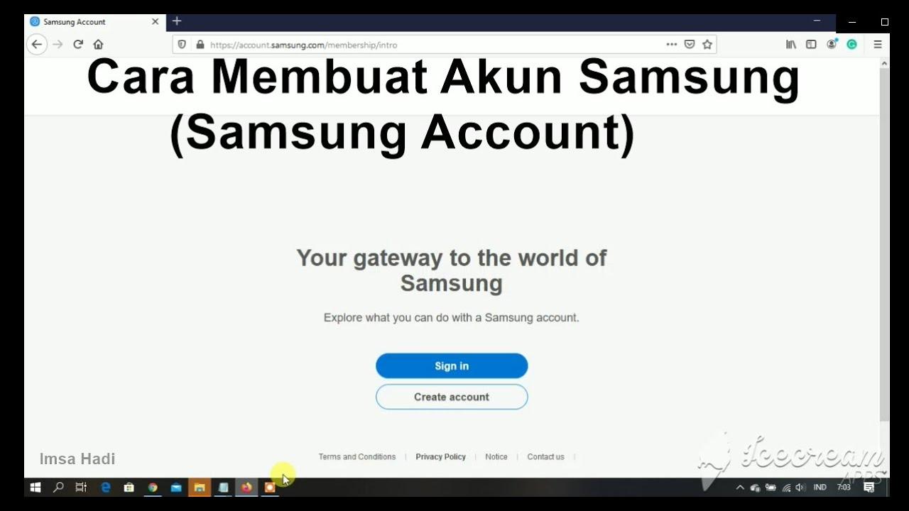 Cara Membuat Akun Samsung Samsung Account Terbaru Youtube