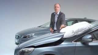 Comment fonctionne la technologie de l'airbag piéton de la Volvo V40?