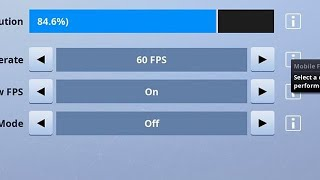 how to get 60 fps fortnite mobile ios
