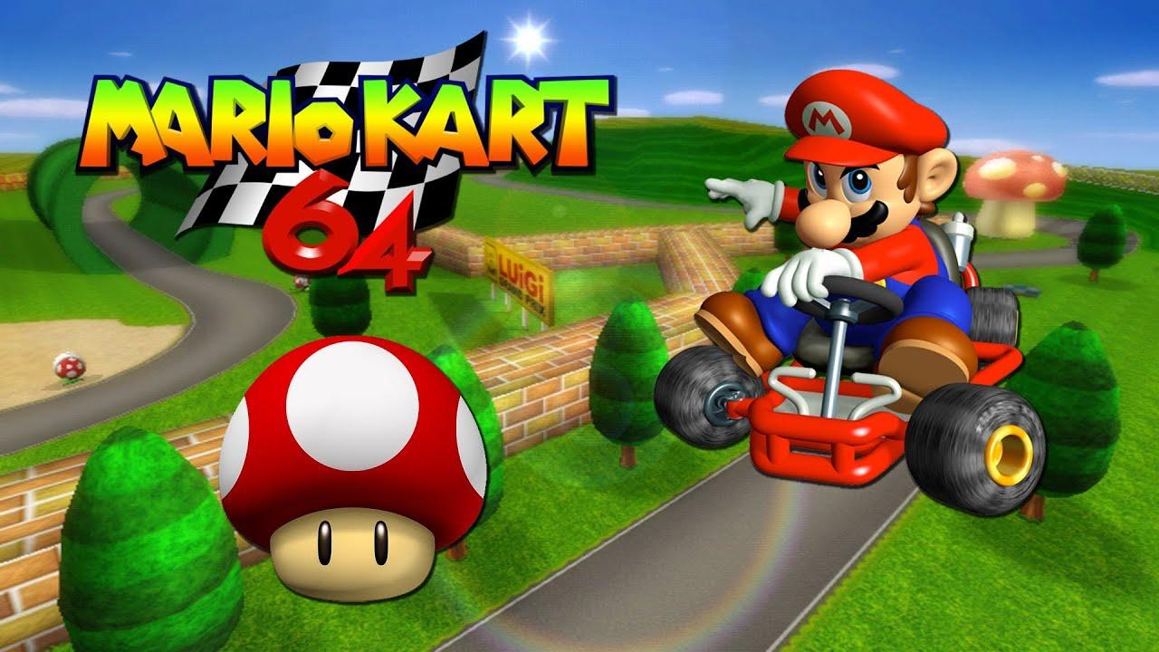 Mario Kart 64 Playthrough - Pt.1 || Mushroom Cup - YouTube