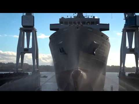 Launching ceremony of the Australian Oilers Replenishment (AOR