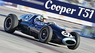 Historic Formula One [F1] - 255hp Cooper Climax T51 - Action, On-Board, Engine Sound & More!