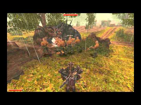 Gothic 2 Army of Miners vs Group of Trolls