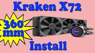 How to Install NZXT Kraken X72 360mm Cooler in a Phanteks Evlolv X Case