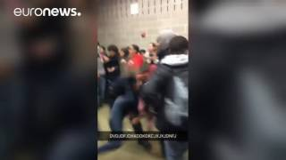 Police officer caught on camera slamming teenage girl to ground