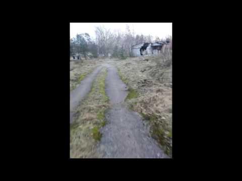 Electric mountainboard (DIY) ride. Military base road. Latvia.