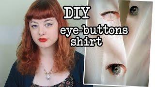 DIY Eye-Buttons Shirt | Make Thrift Buy #6