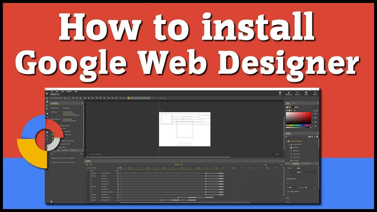 How To Download And Install Google Web Designer Free Web Animation Software Youtube