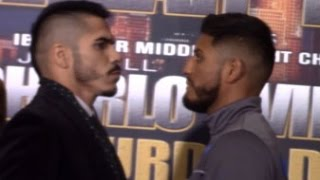 JESUS CUELLAR COMES FACE TO FACE WITH ABNER MARES; CONFIDENT HE CAN RETAIN TITLE WITH A KO