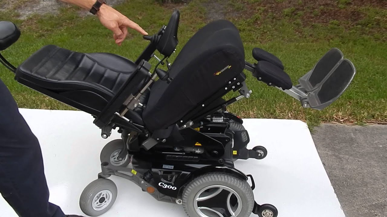 Permobil C300 With Manual Legs And Recline And Electric