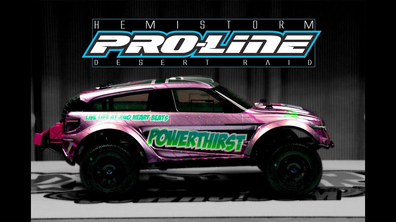 """""""POWERTHIRST"""" Range Rover EVOQUE DAKAR RC Custom Pro Line Desert Raid"""