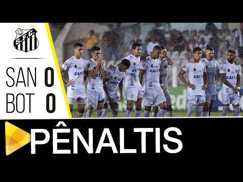 Santos 0 (3) x 0 (1) Botafogo-SP | PÊNALTIS | Paulistão (21/03/18)