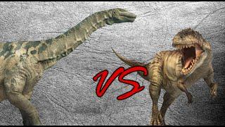 Argentinosaurus vs Giganotosaurus Duo