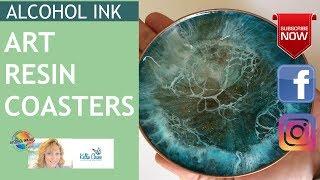 Art Resin Coasters Alcohol Ink Art | Petri Dish - Using Recycled materials