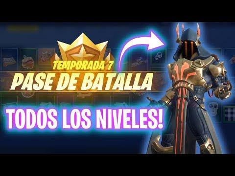 *PASE DE BATALLA COMPLETO* TEMPORADA 7! Fortnite Battle Royale - Luzu