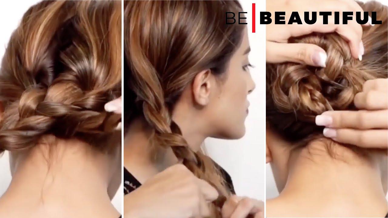 Festive braided low buns #festivehairstyles #hairstylesforgirls #YTShorts #braids #braidedbun
