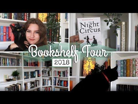 Bookshelf Tour 2018!! (400+ books!) & BLOOPERS