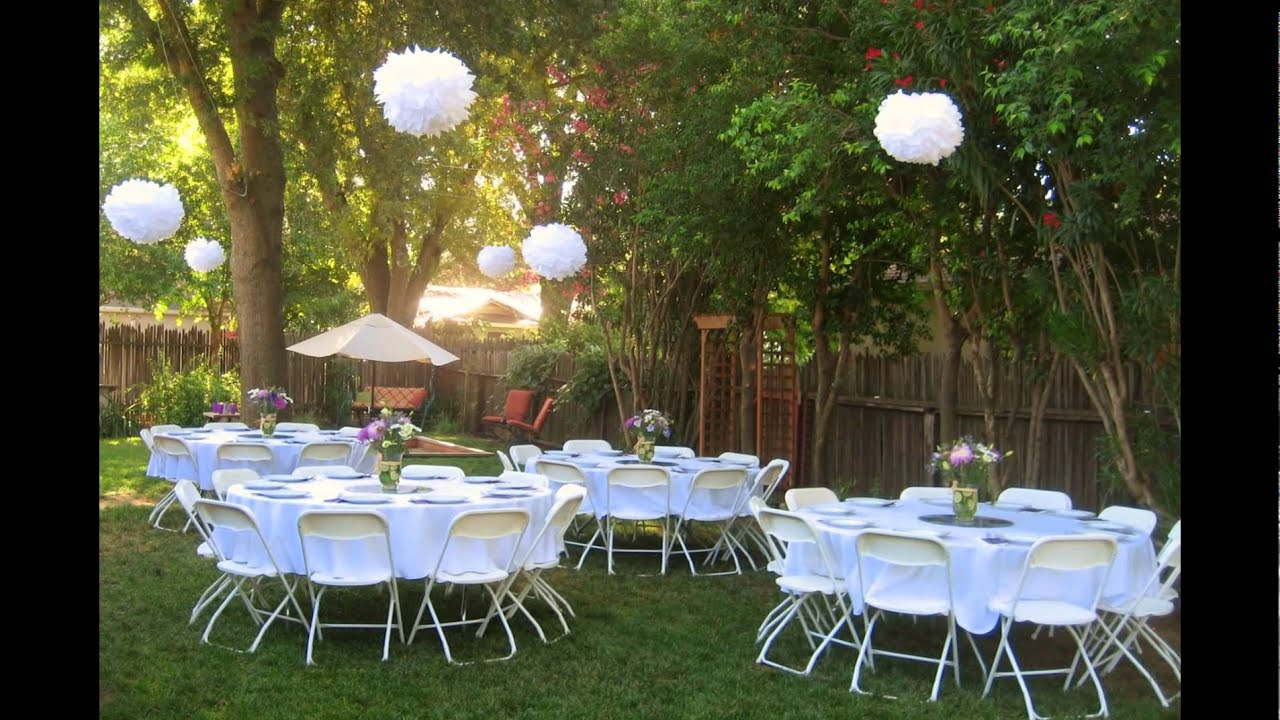 Backyard wedding reception ideas youtube for Small wedding reception decorations
