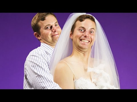 The Try Guys Try Wedding Dresses