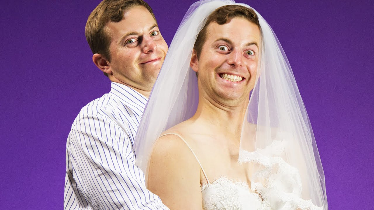 The Try Guys Try Wedding Dresses - YouTube