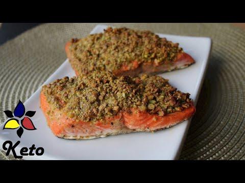 Pistachio Crusted Salmon Quick and Easy Keto, gluten free