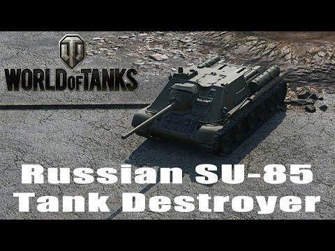 World of Tanks Gameplay - Russian Su-85 Tank Destroyer