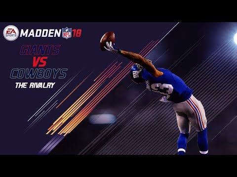 Madden 18 Gameplay | Dallas Cowboys vs. New York Giants | The Rivalry