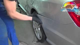 Коррозия металла на крыле автомобиля Mercedes Benz, ремонт в