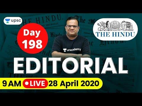 UPSC CSE 2020 | The Hindu Editorial Analysis for IAS Preparation by Ashirwad Sir | 28 April 2020